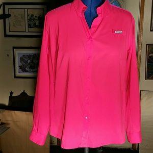 Columbia Hot Pink Windbreaker Jacket. IX